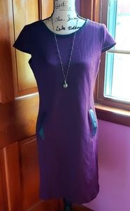 Purple quilted dress
